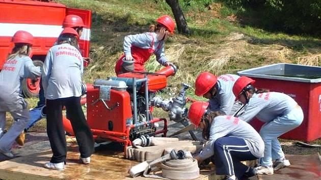 SDH Smiřice: hasičské cvičení.