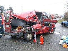 Nehoda 11. ledna 2011 na silnici I/11 na křižovatce u Třebechovic pod Orebem a Krňovic.