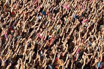 Publikum hudebního festivalu