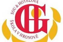 Logo Hotelové školy ve Vrchlabí a Hronově.