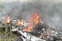 V Hradci Králové spadlo 16. července 2008 ultralehké letadlo