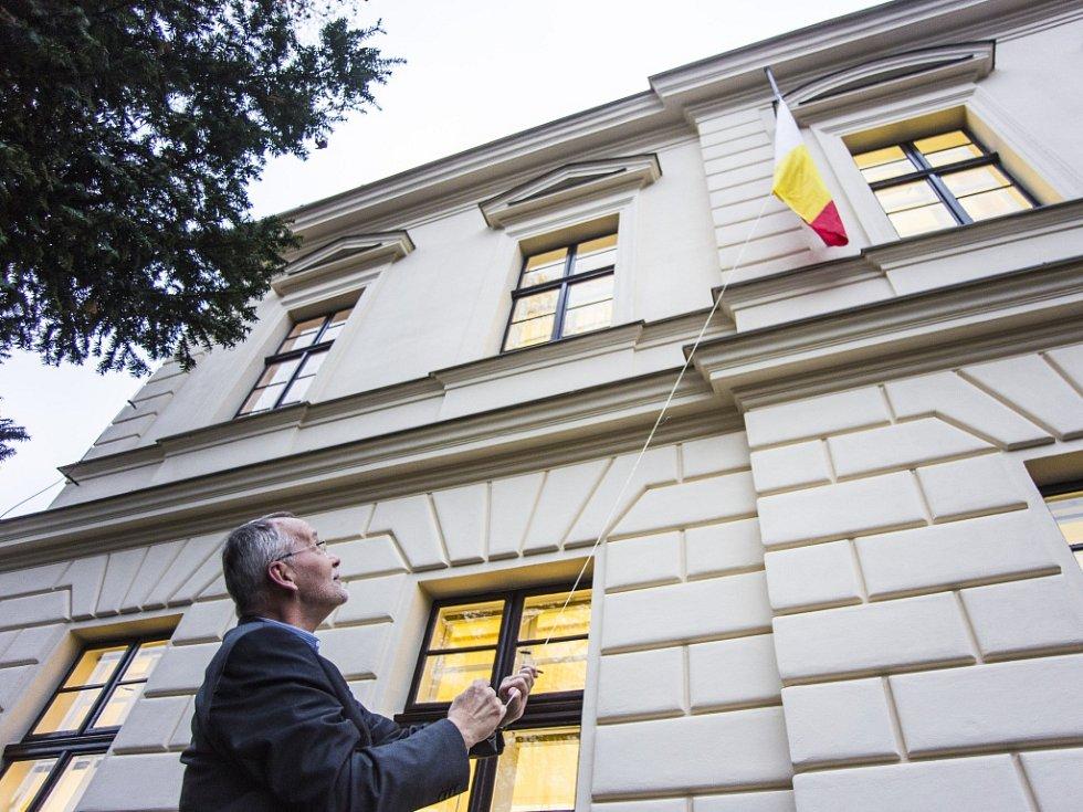 Zrekonstruovaná budova Boni pueri na třídě ČSA v Hradci Králové.