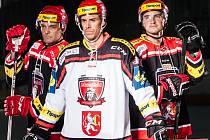 Focení extraligového hokejového týmu Mountfield HK s novýmy dresy.
