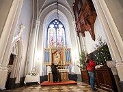 Přípravy na adventní prohlídky v zámku Hrádek u Nechanic.