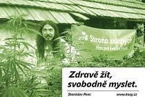 Stanislav Penc v záhonu marihuany