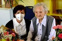 Paní Anna s náměstkyní hejtmana Martinou Berdychovou.