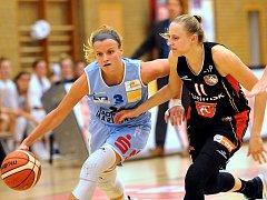 Středoevropská liga basketbalistek: Marburg - Hradec Králové.