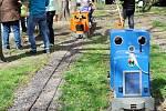 Velikonoční ježdění na královéhradecké dětské železnici.