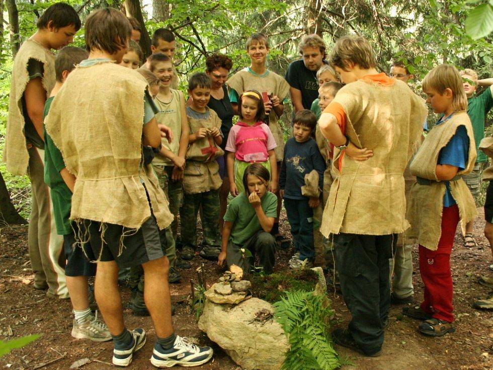 Lvíčata, letní tábor na Zlaté skále 2007