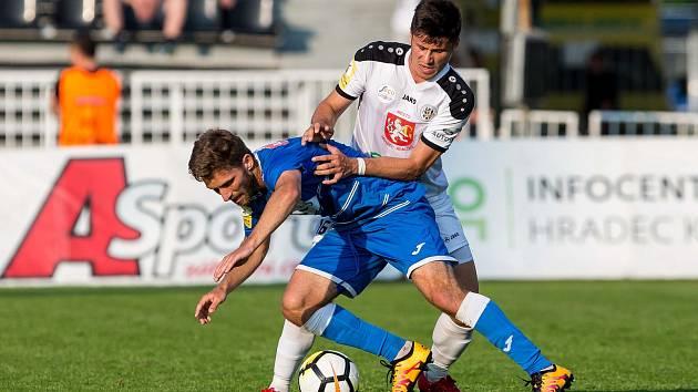 Fotbalová Fortuna národní liga: FC Hradec Králové - FK Ústí nad Labem.