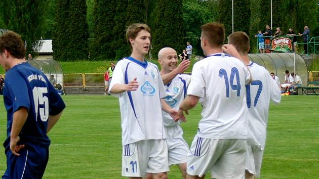 Krajský přebor ve fotbale: TJ Dobruška - RMSK Cidlina Nový Bydžov.