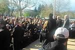 Miloš Zeman při setkání s hradeckými občany
