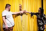 Zkouška divadelní hry Černá voda ve Studiu Beseda královéhradeckého Klicperova divadla.