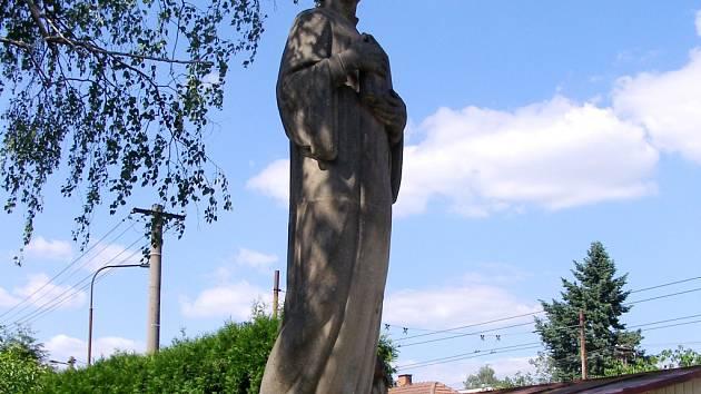 Pomník Mistra Jana Husa v Malšovicích.
