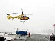 Ukázka zásahu leteckých záchranářů.