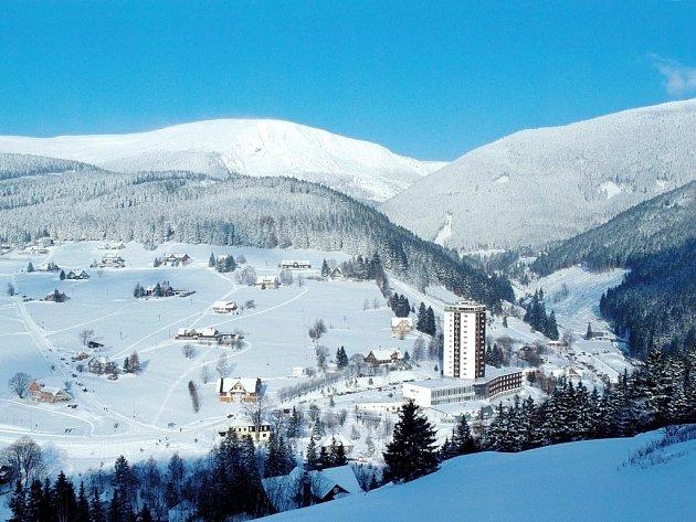 Hotel Horizont v Peci pod Sněžkou.