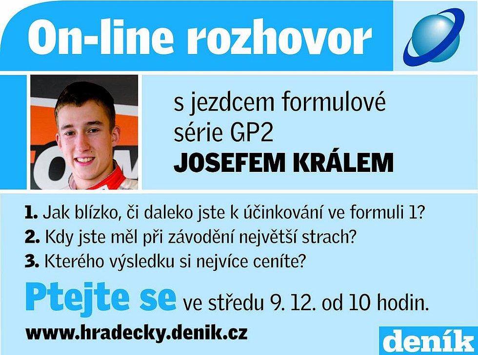 On-line rozhovor s Josefem Králem, jezdcem formulové série GP2.