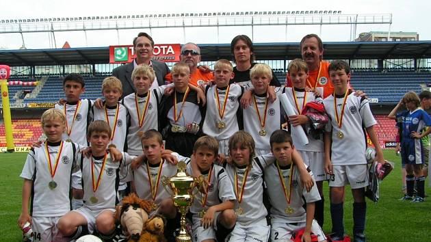 Tým hradeckých fotbalistů