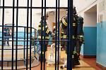 Ve vazební věznici hořely matrace a odpad