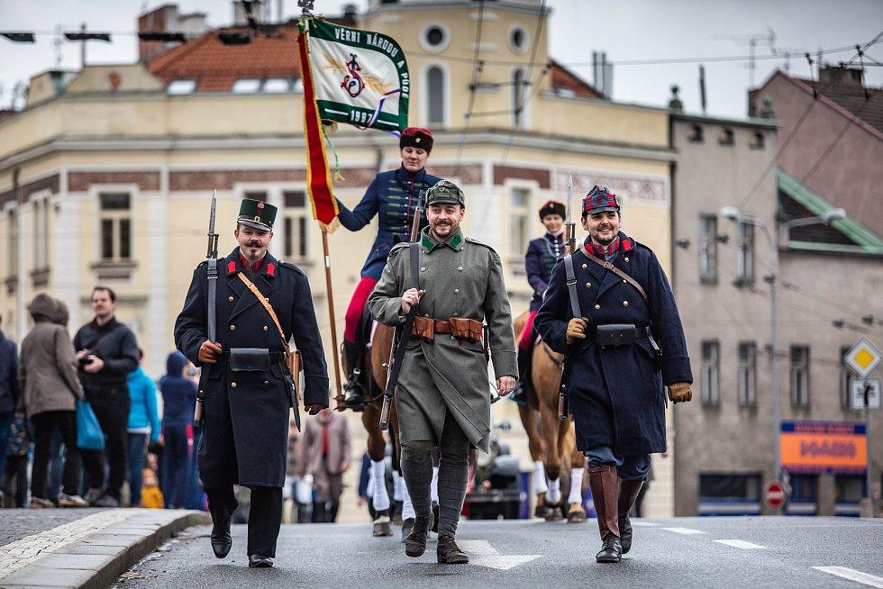 Rekonstrukce příjezdu T. G. Masaryka do Hradce Králové