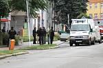 Dočasné uzavření centra Hradce Králové v souvislosti s nahlášením uložení bomby v parkovacím domě Katschnerka.