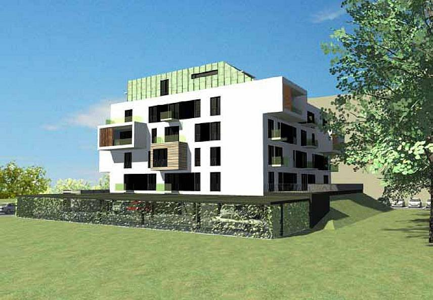 Projekt bytového domu na Moravské Předměstí: vizualizace budoucí podoby.