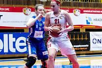 Ženská basketbalová liga: Hradec Králové - Trutnov.