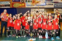 Královéhradecké basketbalistky kategorie U11.