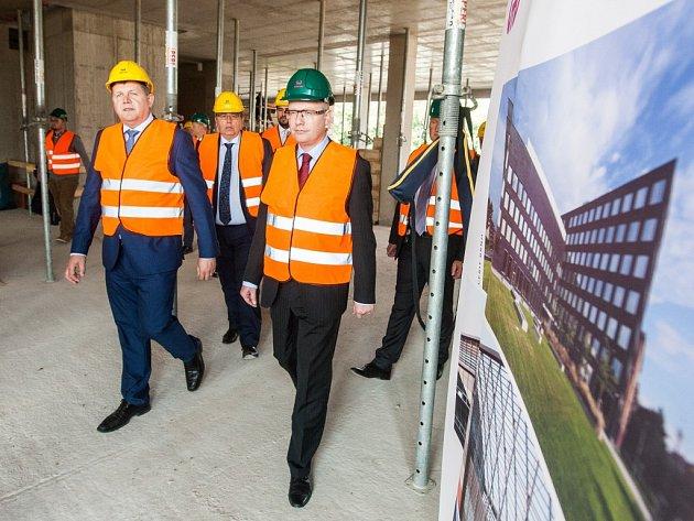 Předseda vlády Bohuslav Sobotka na návštěvě Hradce Králové
