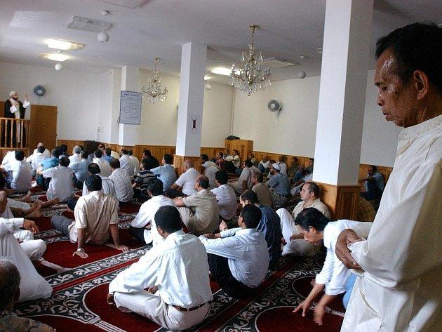 Muslimská mešita v Praze.