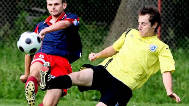 Snímek z utkání I. A třídy Libčany vs. Kosičky