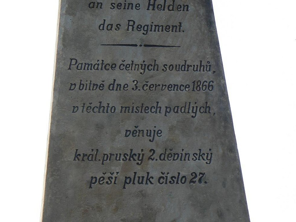 Jeden z mnoha památníků padlých vojáků v lese Svíb.