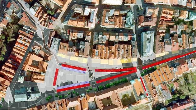 174 + 47 parkovacích míst - Velké náměstí, Hradec Králové.