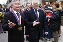 Starosta Chlumce Miroslav Uchytil s prezidentem