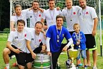 Lambáda Hradec, vítěz 6. ročníku Dream cupu v malé kopané v Hořiněvsi.