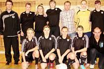 Fotbalistky FC Hradec Králové na halovém turnaji.