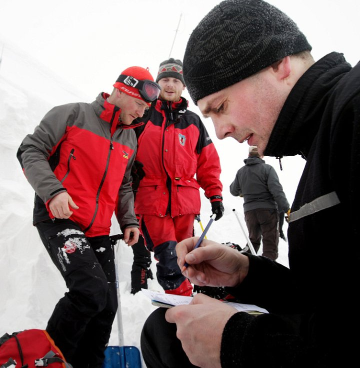 Cvičení horské služby 3. března 2009