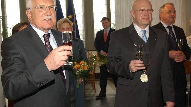 Václav Klaus, Otakar Divíšek a Pavel Bradík