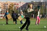 Otevření nového sportovního hřiště u základní školy Milady Horákové v Hradci Králové.