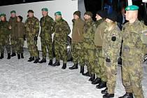 Vojenští zdravotníci před odjezde do Slovinska.