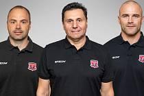 Trenér Mountfieldu HK Vladimír Růžička si zvolil asistenty - stali se jimi Daniel Branda a David Kočí.