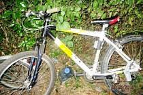 Ukradené jízdní kolo.