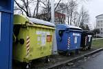 Kontejnery na tříděný odpad. Ilustrační fotografie.