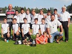 FC Nový Hradec B, vítěz Hradeckého poháru mladších žáků Ladislava Škorpila.