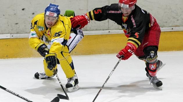 I. hokejová liga: Královští lvi Hradec Králové - HC Slovan Ústečtí Lvi.
