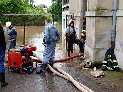 Povodeň v Novém Bydžově.