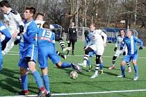 Juniorská liga fotbalistů: FC Hradec Králové - FC Slovan Liberec.