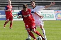 Hradečtí fotbalisté v utkání 25. kola první ligy porazili potápějící se Brno 1:0
