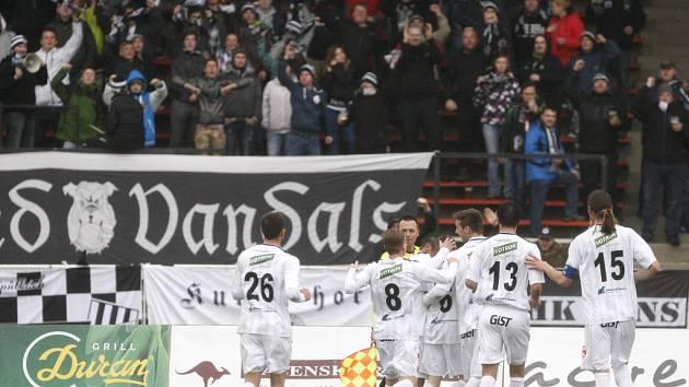 Fotbalová národní liga: FC Hradec Králové - FK Fotbal Třinec.