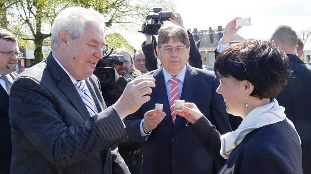 Prezident Miloš Zeman navštívil ve středu 16. dubna 2014 během své třídenní návštěvy Královéhradeckého kraje také obec Holovousy na Jičínsku. Zasadil zde lípu, podepsal se do místní kroniky a dekoroval obecní prapor.